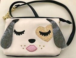 NWT Betsey Johnson Sparkly Glitter Puppy Dog Crossbody Bag $14.00
