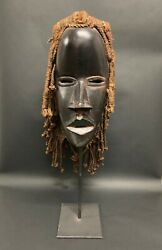 African Art Dan Mask With Stand