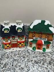 Vintage Noma Christmas Village Toy's And Gift Shoppe 4 X 4