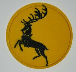 Game Of Thrones House Of Baratheon Black Stag Crest Iron Or Sew On Patch 3 New