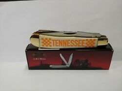 Tennessee Knive W/ Flags Orange Lettering 2 Blades 4 1/4 Closed Frost Cutlery