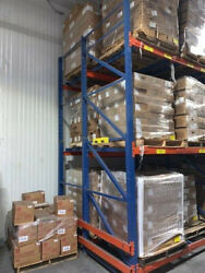 2500 Pallet Positions Structural 2-deep Push Back Pallet Racking 16and039 - 27and039 High