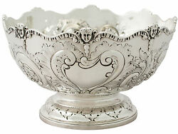 Antique Sterling Silver Presentation Bowl By Charles Stuart Harris - Victorian