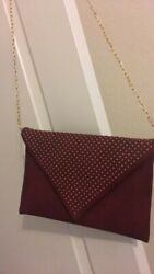 Pre owned Urban Expression studded clutch Wine color $25.00