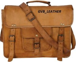 Leather Vintage Messenger Shoulder Men Satchel Fit All Laptop Briefcase Bag $51.06
