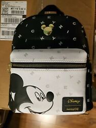 Free Gift!!! NEW WITH TAGS! Loungefly Mickey Mouse Letters Mini Backpack