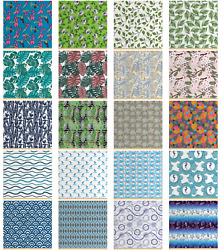 Ambesonne Fabric By The Yard Polyester Fabric For Home Decorative