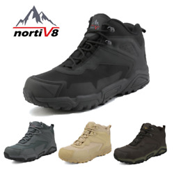 Nortiv 8 Menand039s Ankle Waterproof Hiking Boots Lightweight Backpacking Work Shoes