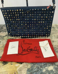 New Christian Louboutin Panettone Studded Clutch Purse Crossbody 3 In 1 1790