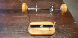 Vintage Solid Wood Roto-foto Chicago Mid Century Rolodex Index Card Photo Swivel