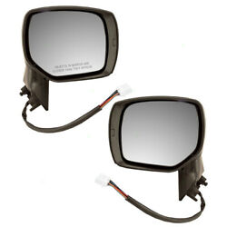 Set Of Side View Power Mirrors Heated For 2014 2015 2016 2017 Subaru Forester