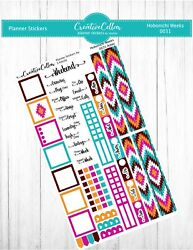 HW 0031 Aztec Planner Stickers Fits the Hobonichi Weeks Southwest Style $3.75