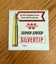 Winchester Silver Tip Display Store 1952 Ammo Super Speed Shell No. 2096