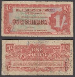 Great Britain 1 Shilling Nd 1948 Vg-f Condition Banknote P-m18 British Armed F