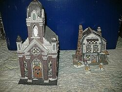 Dept. 56 Plattand039s Candles And Wax New England Village And Holy Name Church Retired