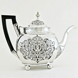 18c Antique Portugal Portuguese Sterling Silver Tea Coffee Pot Rococo Lisbon M