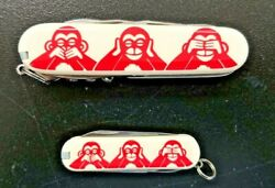Victorinox Special Three Wise Monkeys Knife Set Of Two Knifes Very Rare