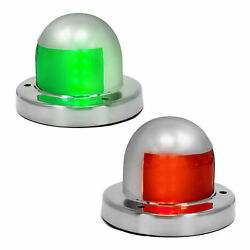 Led Boat Bow Navigation Deck Mount Port And Starboard Stainless Steel Lights