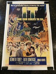 It Came From Beneath The Sea Original 1955 Movie Posterc8.5 Very Fine/near Mint