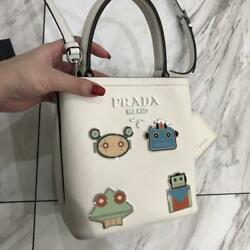 PRADA 2018 Collection JAPAN EXCLUSIVE Design Shoulder Pannier Robot Bag Genuine