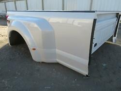 2017 2018 Ford F350sd Superduty 8and039 Dually Dual Rear Wheel Bed Box Pearl White