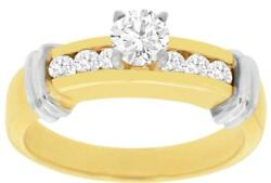 Estate .70ct Diamond 14kt Yellow Gold 3d Classic Round Engagment Ring