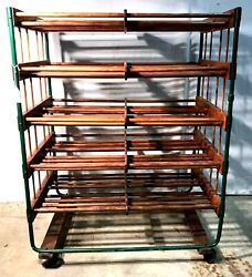 Large Five Shelf Wine Storage/bakers Rack. Country/general/mercantile Store Cart