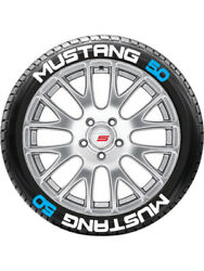 8 X Tyre Stickers Peel And Stick Temporary White Letters Mustang 1.5 14-16 Wheels