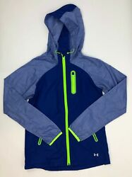 Under Armour Semi-fitted Hooded Zip-up Jacket Women Size X-small Violet Nwot