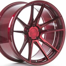 4 20 Staggered Rohana Rf2 20x9 20x12 Red Concave Wheels Forged Rims A1