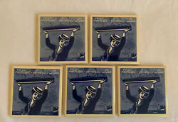 Lot Of 5 Holland America Line Royal Coaster Tiles Lady Holding Ship