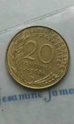 Republique Francaise France 20 Centimes 1963 Birthday Coin Circulated