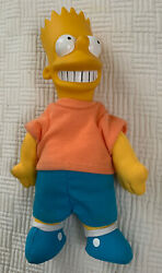 Bart Simpson 1990 Burger King Plush Dolls Open Used Toy Collectible