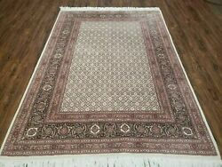 5and039 X 7and039 Vintage Hand Made Indian Wool Rug Fine Carpet Fish Beauty