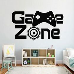Gamer Wall Decal Game Zone Wall Decor Video Vinyl Wall Stickers for Kids Rooms