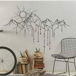 Geometric Mountains Wall Stickers Nursery Sun Wall Decals Arrows Decal Stickers