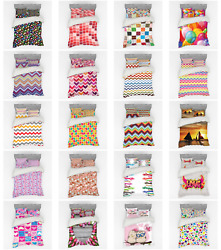Ambesonne Colorful Element Bedding Set Duvet Cover Sham Fitted Sheet In 3 Sizes