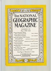 National Geographic-dec 1946-rare Color Map-bible Lands Issue-syria+lebanon Nf