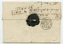 Scarce 1815 Cover To Edinburgh With Step Type Lerwick/ship Letter Handstamp.