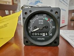 Aircraft Tachometer New Superior Labs Sl1010-12000 Tso 2-1/4 Inch. Re-settable