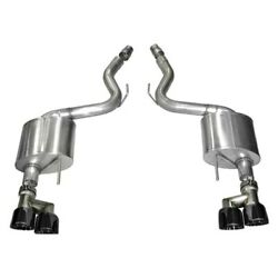 Corsa 15-16 Ford Mustang Gt 5.0 3in Axle Back Exhaust Black Quad Tips Sport