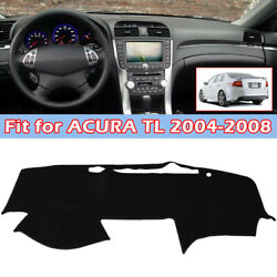 Black Left-hand-drive Car Dash Cover Mat Dashboard Pad For 2004-2008 Acura Tl
