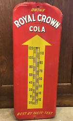 Vintage Working Authentic Royal Crown Cola Thermometer