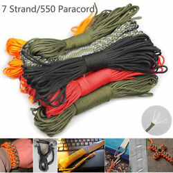 550 Paracord Parachute Cord Lanyard Mil Spec Type 100/300ft Iii 7 Strand Core