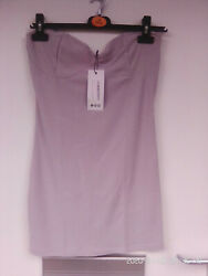 ladies mini.bandeau dressbust detailunlinedstretchsize 14by BOOHOOnew w t