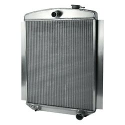 For Chevy Truck 47-55 Afco 80138-p-ss-y Street Rod Performance Radiator W Fan