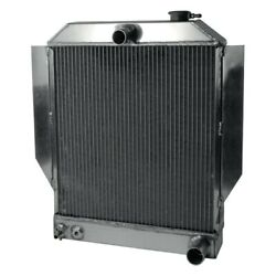 For Ford Deluxe 46-48 Afco 80141-s-sb-y Street Rod Performance Radiator W Fan