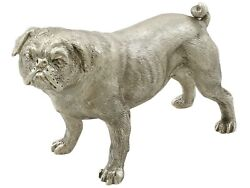 Contemporary Sterling Silver Model Of A Pug 1998