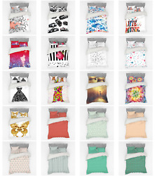Ambesonne Modern Theme Bedding Set Duvet Cover Sham Fitted Sheet In 3 Sizes