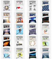 Ambesonne Sports Theme Bedding Set Duvet Cover Sham Fitted Sheet In 3 Sizes